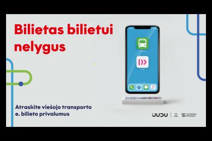 Vilniaus viešojo transporto e. bilietas Tavo telefone