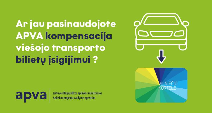 Nepamirškite pasinaudoti APVA kompensacija viešojo transporto bilietams